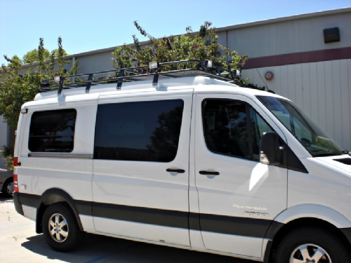 Sprinter 03-06  LWB High Roof  Double Loop Low Profile - 13 Feet Long - Perforated Aluminium